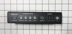 Dacor Range Control W/Overlay